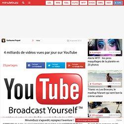 4 milliards de vidéos vues par jour sur YouTube