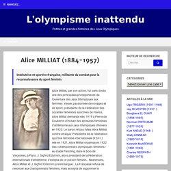 Alice MILLIAT (1884-1957)