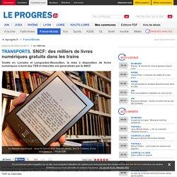 SNCF: des milliers de livres numériques gratuits dans les trains