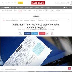 Paris: des milliers de PV de stationnements seraient illégaux