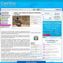Pérou : des milliers de femmes stérilisées de force