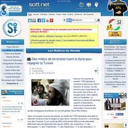 Des milliers de terroristes fuient la Syrie pour regagner la Tunisie