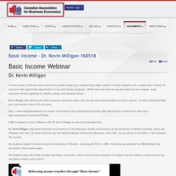 Basic Income - Dr. Kevin Milligan-160518 - Canadian Association for Business Economics