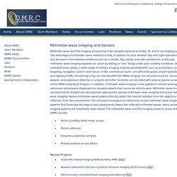 Millimeter-wave Imaging and Sensors - Davis Millimeter Wave Research