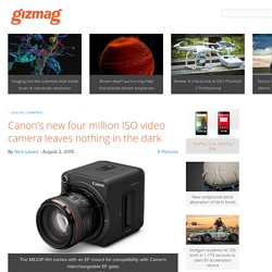Canon's new four million ISO video camera leaves nothing in the dark