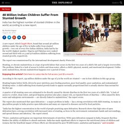 48 Million Indian Children Suffer From Stunted Growth