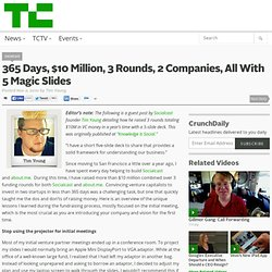 365 Days, $10 Million, 3 Rounds, 2 Companies, All With 5 Magic Slides