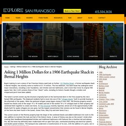 Asking 1 Million Dollars for a 1906 Earthquake Shack in Bernal Heights - Explore San Francisco Blog