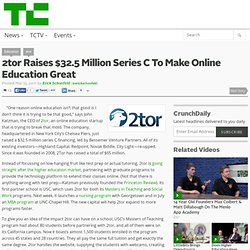 2tor Raises $32.5 Million Series C To Make Online Education Great