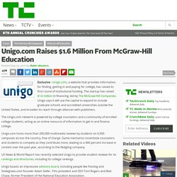 Unigo.com Raises $1.6 Million From McGraw-Hill Education