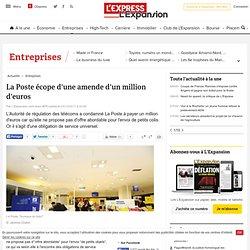 La Poste écope d'une amende d'un million d'euros