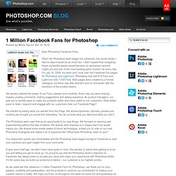 1 Million Facebook Fans for Photoshop
