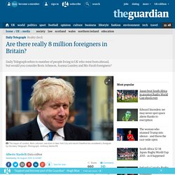 Are there really 8 million foreigners in Britain?