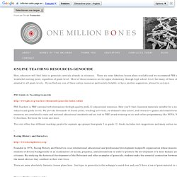 One Million Bones - Genocide Resources