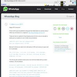1 million is so 2011 - WhatsApp Blog