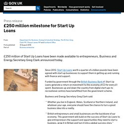 £250 million milestone for Start Up Loans