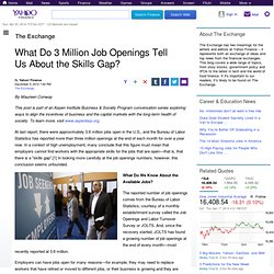 What Do 3 Million Job Openings Tell Us About the Skills Gap?