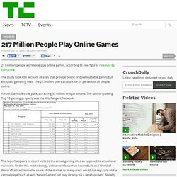 217 Million People Play Online Games