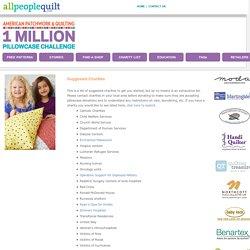 APQ -1 Million Pillowcase Challenge - Where To Donate