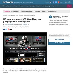 US army spends $32.8 million on propaganda videogame