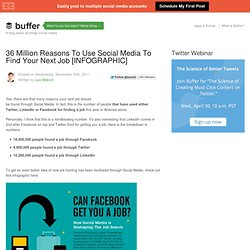 36 Million Reasons To Use Social Media To Find Your Next Job [INFOGRAPHIC]