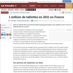Conjoncture : 1 million de tablettes en 2011 en France