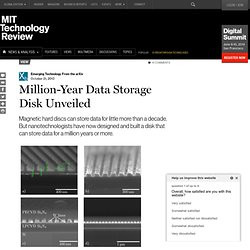Million-Year Data Storage Disk Unveiled