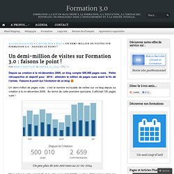 Un demi-million de visites sur Formation 3.0 : faisons le point