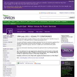 South East | Million Voices for Public Services
