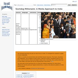 Slumdog Millionaire: A Media Approach to India - EnglischDidakt