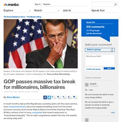 GOP passes massive tax break for millionaires, billionaires