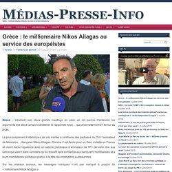 Nikos Aliagas, qui ne vit pas les problèmes de ses compatriotes (puisqu'il est en France), au service des européistes : l'indécence des traitres collabos
