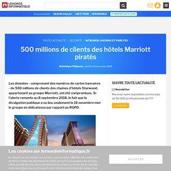 500 millions de clients des hôtels Marriott piratés