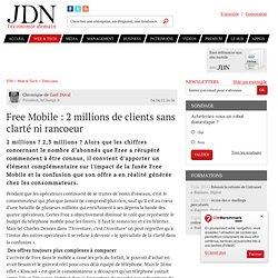 Free Mobile : 2 millions de clients sans clarté ni rancoeur