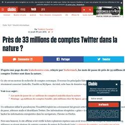 Près de 33 millions de comptes Twitter dans la nature ?