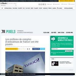 500millions de comptes d'utilisateurs de Yahoo! ont été piratés