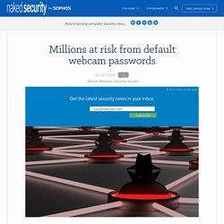 Millions at risk from default webcam passwords