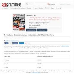 4,7 millions de développeurs en Europe selon Stack Overflow