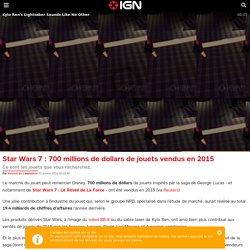 Star Wars 7 : 700 millions de dollars de jouets vendus en 2015