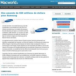 Une amende de 929 millions de dollars pour Samsung - Commentaires, p. 1