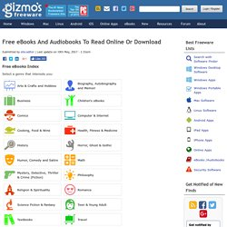 Millions of Free eBooks and Audio Books Online