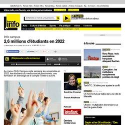 2,6 millions d'étudiants en 2022