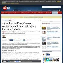 23 millions d'Européens ont réalisé en août un achat depuis leur smartphone