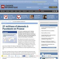 21 millions d'abonnés à Facebook en France