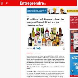 30 millions de followers suivent les marques Pernod Ricard sur les réseaux sociaux