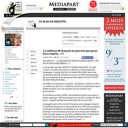 13/08 1,2 millions de français ne peuvent pas payer leurs impôts....!!!