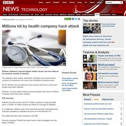 Millions hit by health company hack attack