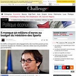 Il manque 50 millions d'euros au budget du ministère des sports