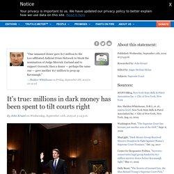 It's true: millions in dark money has been spent to tilt courts right