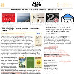 Dada Pedagogy: Andrei Codrescu's The Poetry Lesson